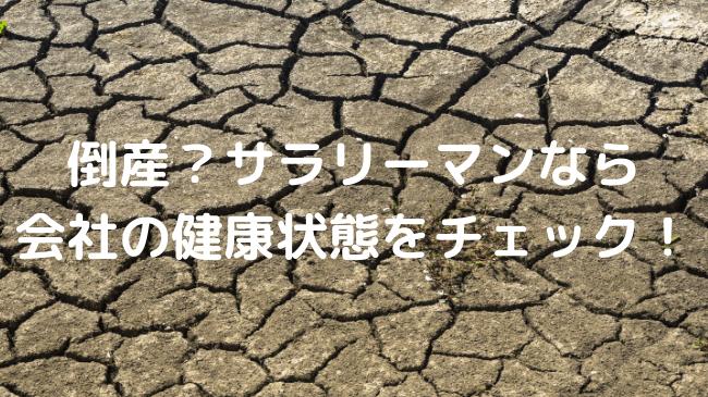 水不足で地割れが起きている地面