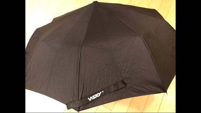 Wskyの折りたたみ傘を開いたところ