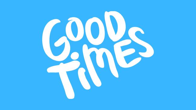 good timesと書かれたロゴ
