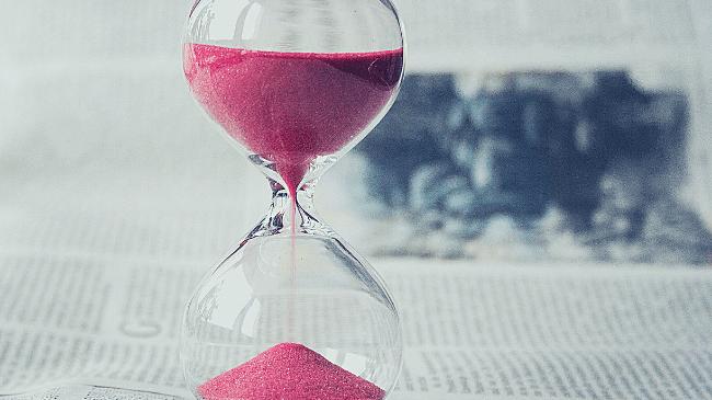 時間は有限であることを教えてくれる砂時計