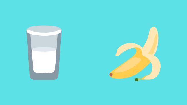 プロテインとバナナ