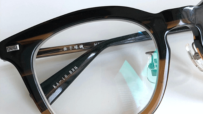 金子眼鏡のKA-18に入っているロゴ