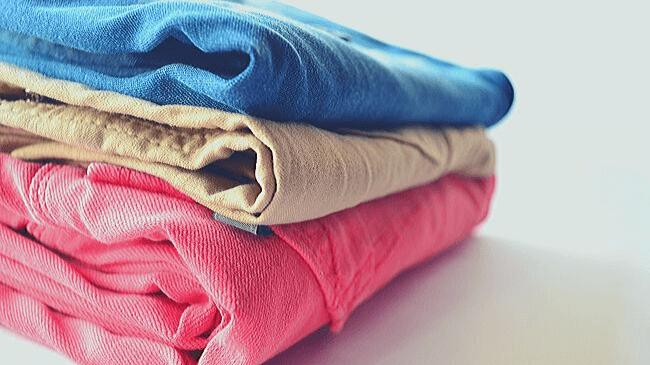 室内干しでしっかり乾いた洗濯物
