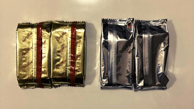 カロリーメイトと類似品のライトミールの中身の包装