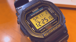 casio g-shock dw-5600e-1vの正面