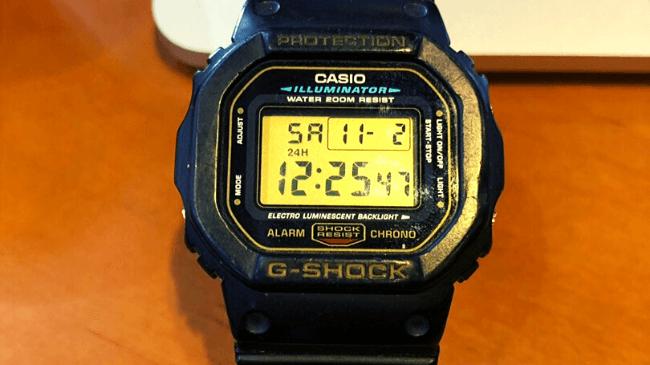 G-SHOCKのモデルDW-5600Eのアップ