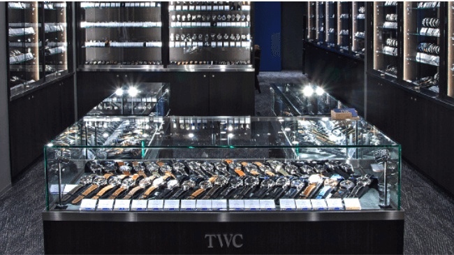 TWCの実店舗の内装