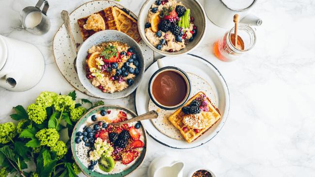 日常とは異なる特別なホテルの朝食