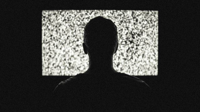 テレビのニュースが終わった後の状態