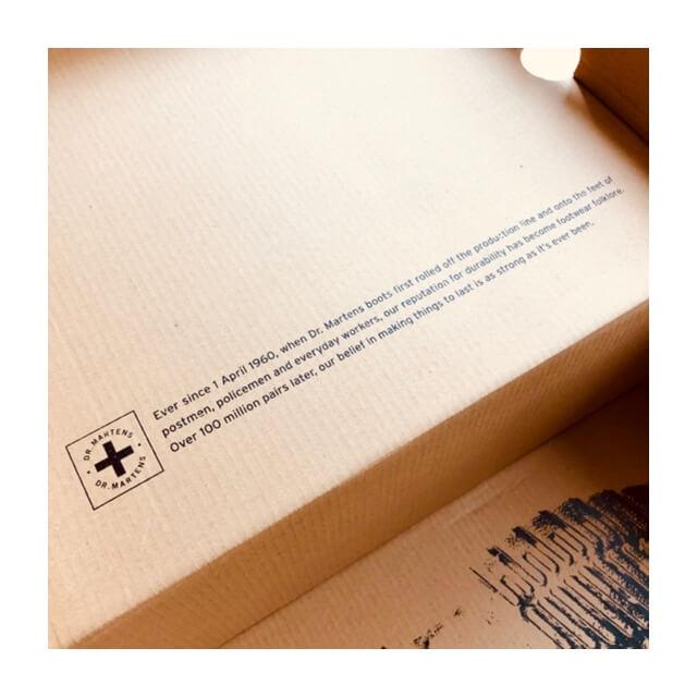 ドクターマーチンの箱に記載されている説明