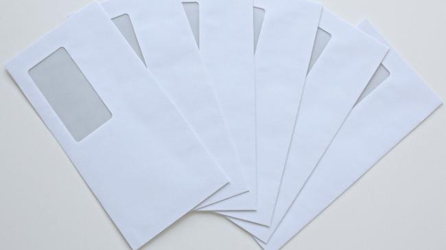 飲み会の会費を集めるために使用する封筒