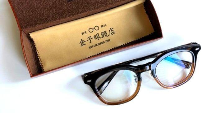金子メガネで購入したKA-18とケース