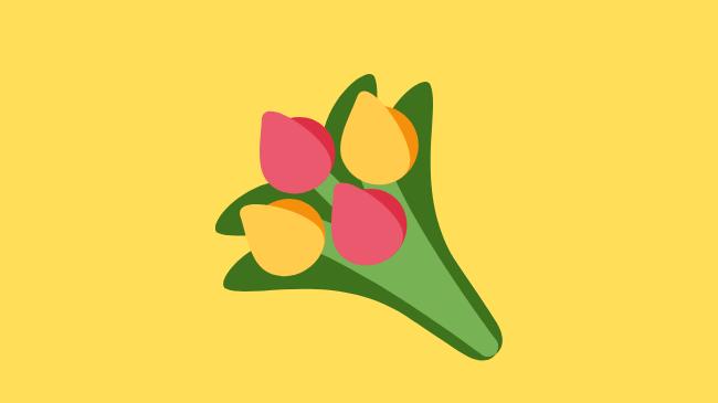 信頼の証としてプレゼントに利用される花束
