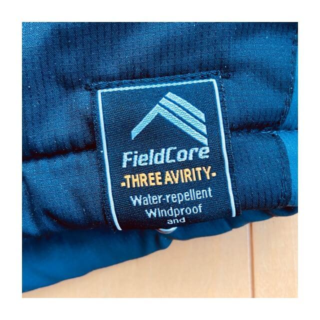 ワークマンのフィールドコアの防風防寒ジャンパーに付属しているロゴ