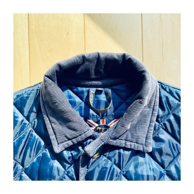 ラベンハムコートのメンズ用の襟部分