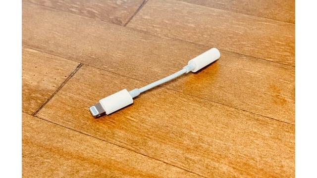 apple純正のライトニングイヤホン変換アダプタ