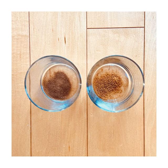 伊藤園のむぎ茶の粉末とAGFのほうじ茶の粉末の違い