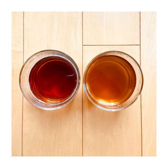 伊藤園のむぎ茶とAGFのほうじ茶