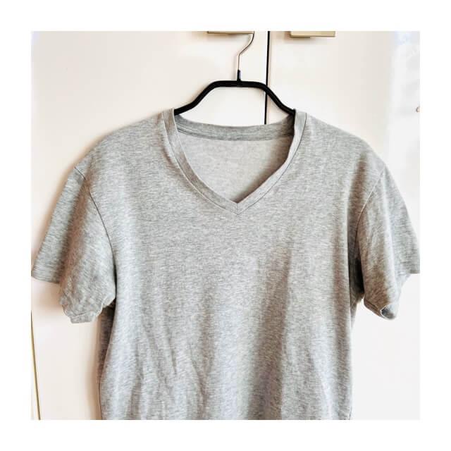 マワハンガーにTシャツをかけたところ