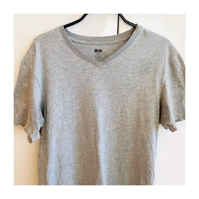 ヌーラを吹き付けて乾いたTシャツ