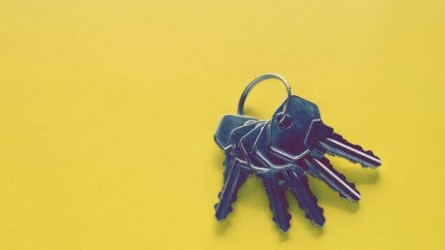 戸締りの確認に使用している鍵