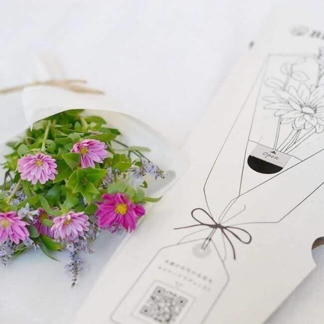 ブルーミーライフで届く花とケース