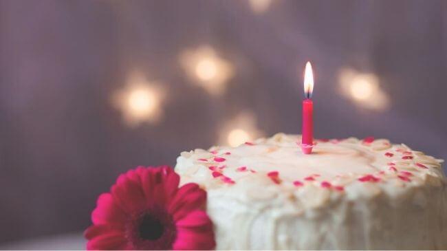 誕生日のケーキで親孝行