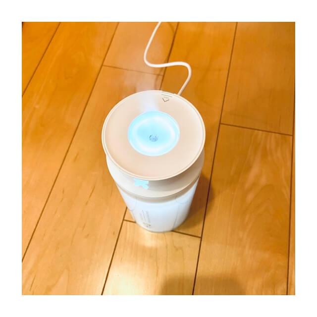 寝ている時でも在宅勤務中に使用している加湿器